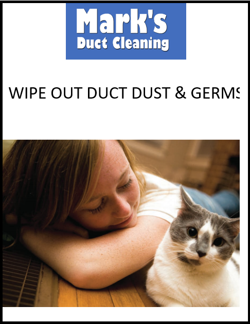 Wipe out duct dust