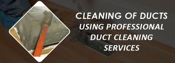 Cleaning of ducts using professional duct cleaning