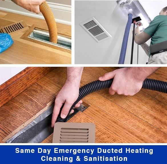 Same Day Emergency Ducted Heating Cleaning Sanitisation In Templestowe