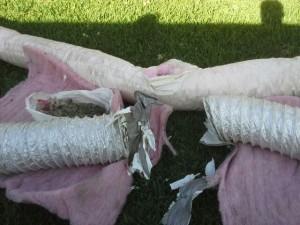 Broken Duct Retain Pipe